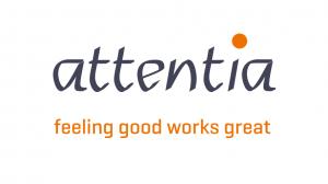 Logo Attentia, copywritingklant van Het Schrijfhok