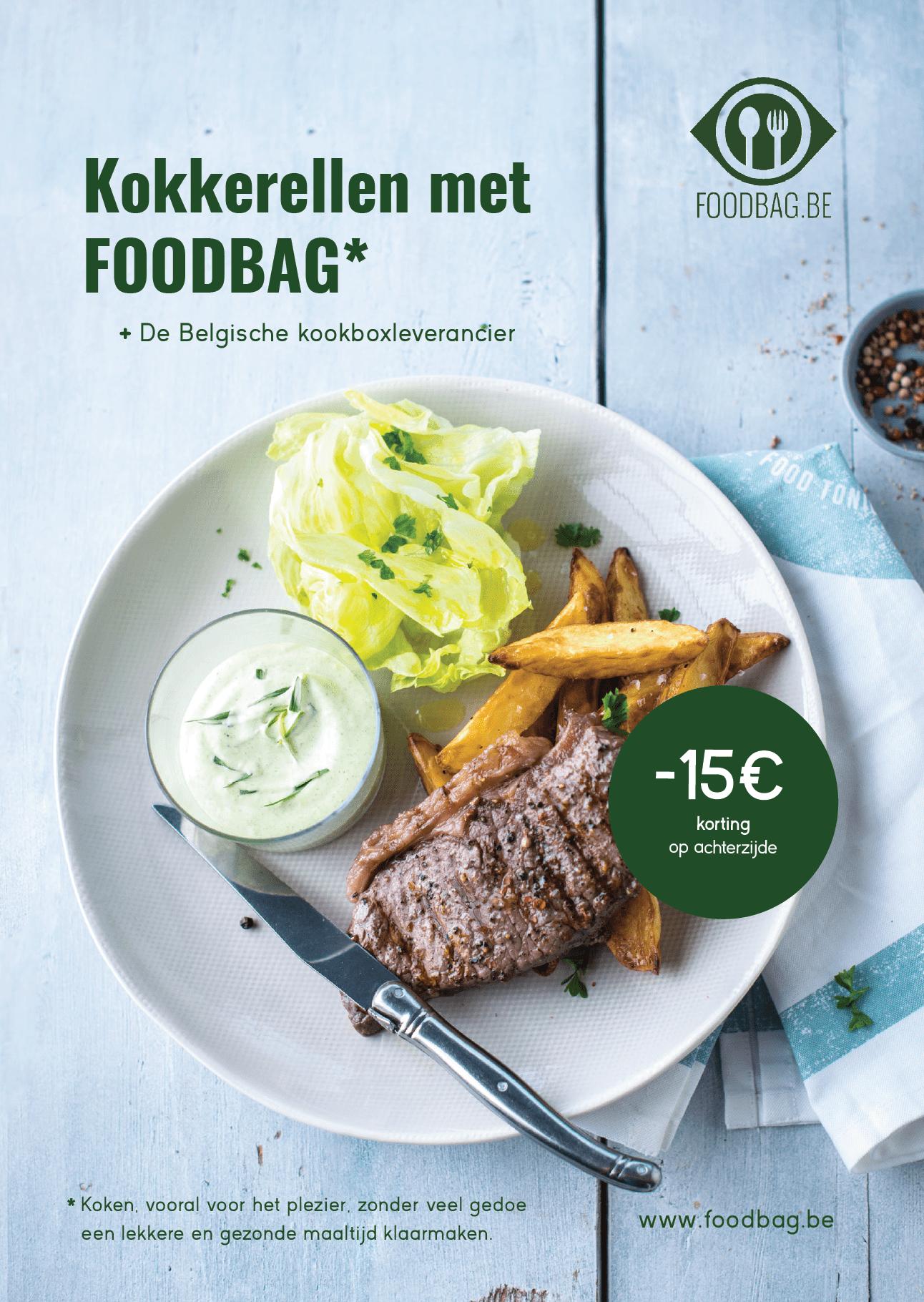 Copywriting Het Schrijfhok voor Foodbag in Gent voor publireportage in GVA